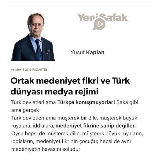 Ortak medeniyet fikri ve Türk dünyası medya rejimi