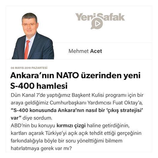 Ankara'nın NATO üzerinden yeni S-400 hamlesi