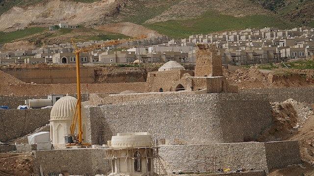 Hasankeyfteki 650 yıllık Koç Cami yeni yerine yerleştiriliyor