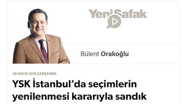YSK İstanbul'da seçimlerin yenilenmesi kararıyla sandık darbesini engelledi ve millet  iradesi'ne işaret etti.