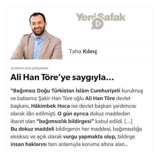 Ali Han Töre'ye saygıyla…