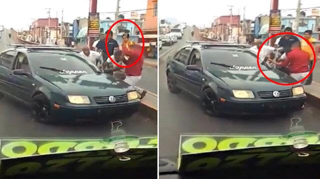 Kural ihlali yapan sürücüye baltayla saldırdı