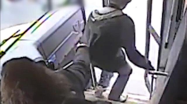 Otobüs şoförünün refleksi kazayı önledi