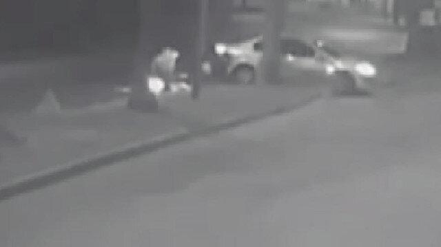 Alman turistin hayatını kaybettiği motosiklet kazası kamerada