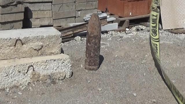Şehrin göbeğinde top mermisi bulundu