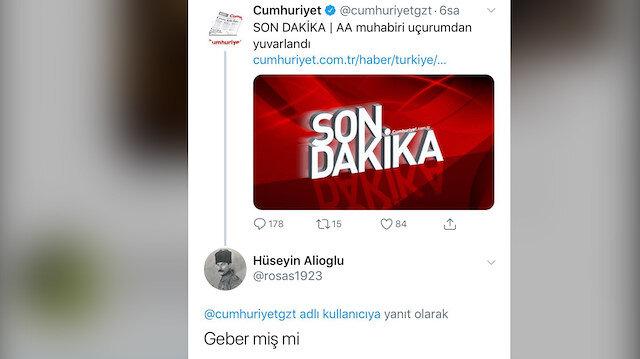 Nefretlerini uçurma yuvarlanan Anadolu Ajansı muhabirine kustular