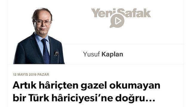Artık hâriçten gazel okumayan bir Türk hâriciyesi'ne doğru...