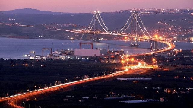 Osmangazi Köprüsü'nün 15 aylık hasılatı 2 milyar TL