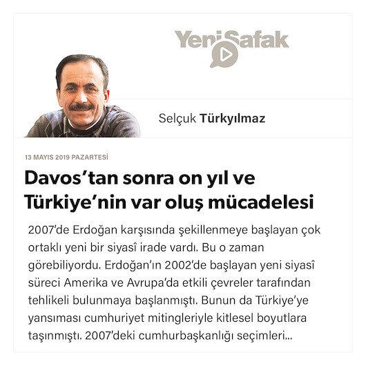 Davos'tan sonra on yıl ve Türkiye'nin var oluş mücadelesi