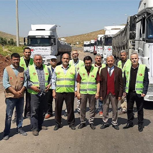 Türkiye'den Suriyeli ihtiyaç sahiplerine 185 ton un yardımı