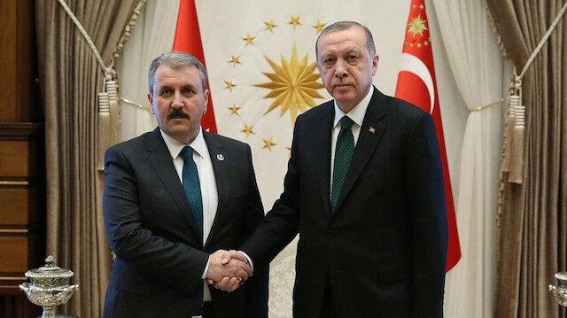 Mustafa Destici - Cumhurbaşkanı Recep Tayyip Erdoğan