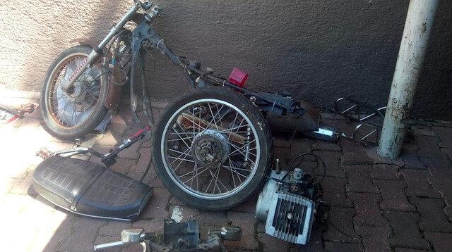 Hırsızlık olayı motosiklet parçalarının yapboz gibi birleştirmesiyle çözüldü