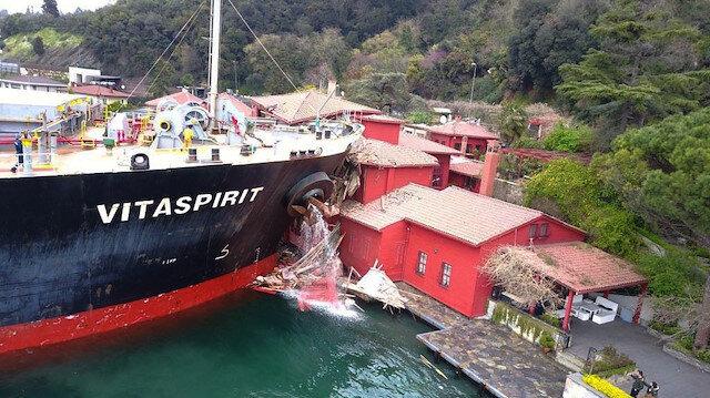 Tarihi yalıya çarpan geminin ödeyeceği miktar belli oldu