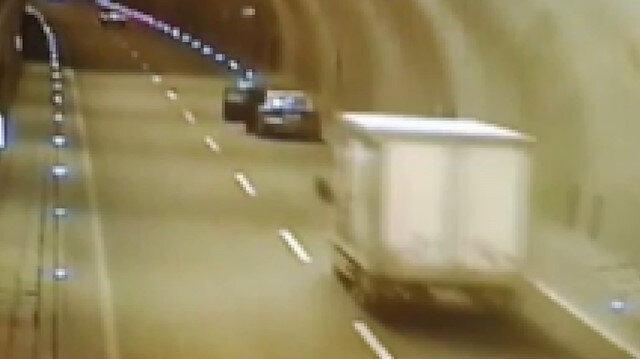 Tünelde can alan kaza kamerada