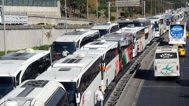 Bayramda otobüsler ek seferler düzenleyecek.