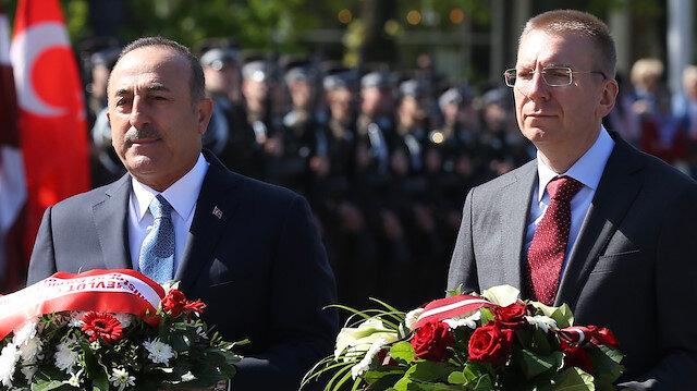 Dışişleri Bakanı Mevlüt Çavuşoğlu - Letonya Dışişleri Bakanı Edgards Rinkevics