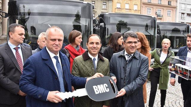 """بلغراد تستلم 8 حافلات من شركة """"BMC"""" التركية"""