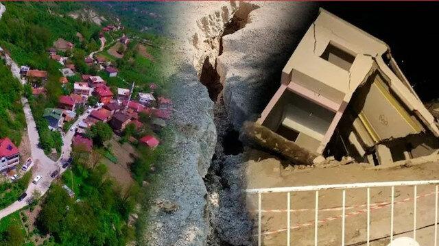 Ordu'da heyelan: 3 ev çöktü mahalleli evlerini boşaltıyor