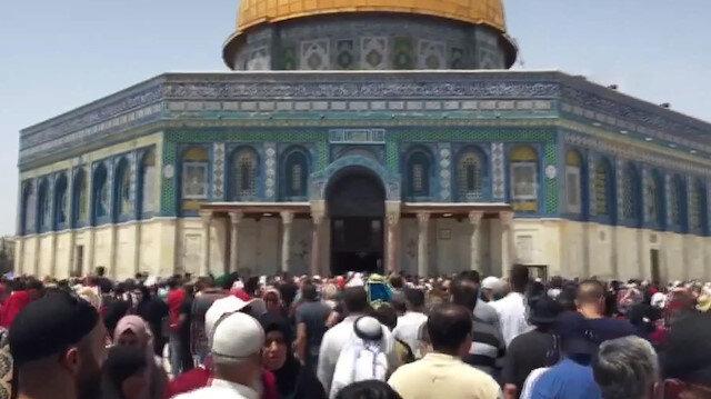 Ramazanın ikinci Cuma namazı Mescid-i Aksada kılındı