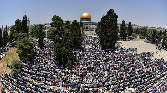 Second Friday Prayer of Ramadan in Al-Aqsa Mosque