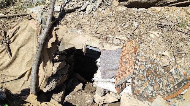 26 mağara ve barınakta mühimmat ve yaşamsal malzeme ele geçirildi
