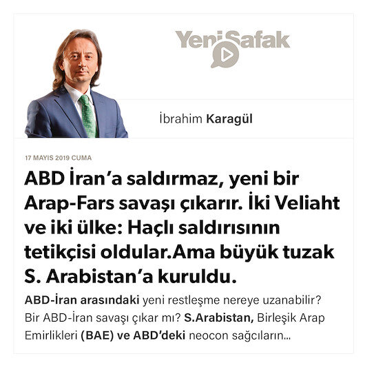 * ABD İran'a saldırmaz, yeni bir Arap-Fars savaşı çıkarır. * İki Veliaht ve iki ülke: Haçlı saldırısının tetikçisi oldular. * Ama büyük tuzak S. Arabistan'a kuruldu.