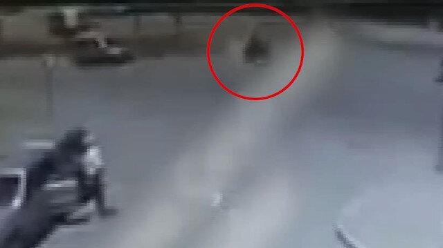 İki kişinin öldüğü motosiklet kazası kamerada