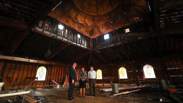 New Haven'daki Müslüman ve gayrimüslimler kundaklanan Camii için kenetlendi