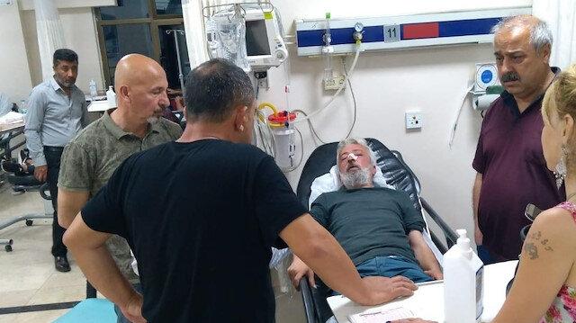 Darp edilen Özyol hastaneye kaldırıldı.