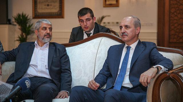 AK Parti Genel Başkanvekili Numan Kurtulmuş ile Hamas eski Siyasi Büro Başkanı Halid Meşal
