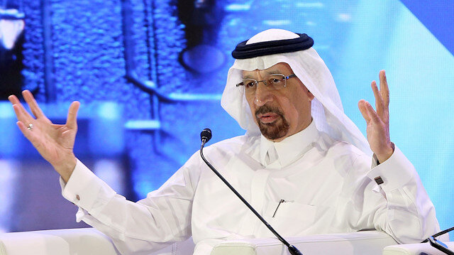 Saudi's Falih says oil stocks still building, but OPEC to act if needed