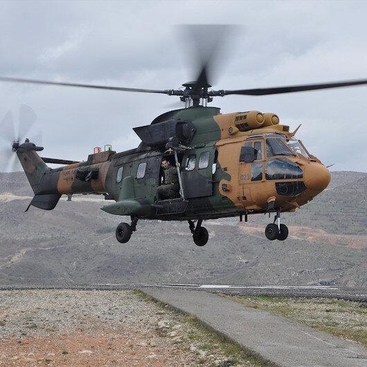 Siirt'te alev içinde kalan çocuğu hastaneye askeri helikopter yetiştirdi