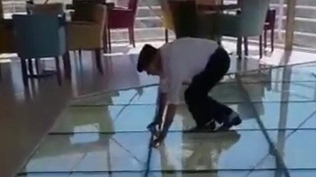 Yaşlı adamın cam terasla imtihanı