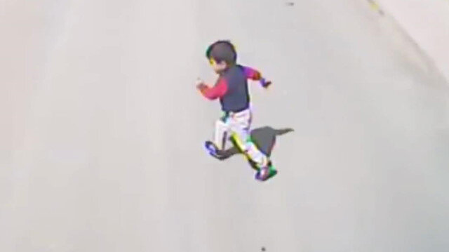 Minik Yasin'in hayatını kaybettiği kazanın görüntüleri ortaya çıktı