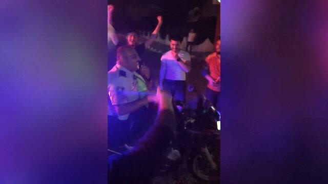 KKTC'de polis de Galatasaray kutlamalarına eşlik etti