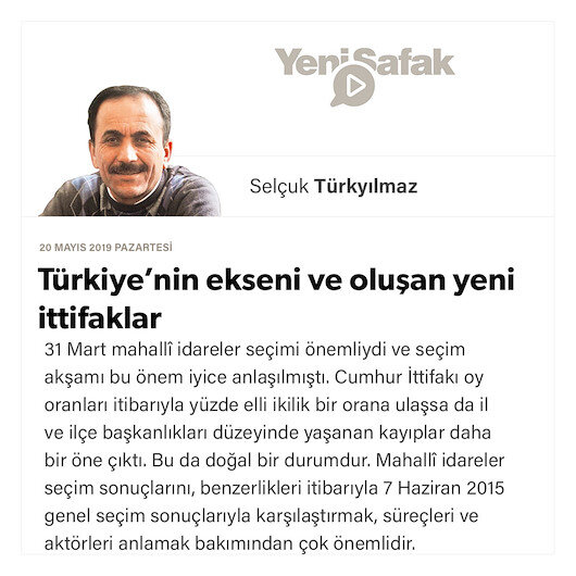 Türkiye'nin ekseni ve oluşan yeni ittifaklar