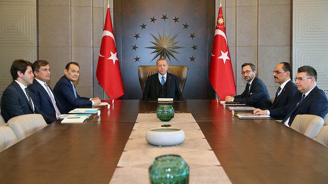 Cumhurbaşkanı Erdoğan Türk Konseyi Genel Sekreteri Amreyev'i kabul etti