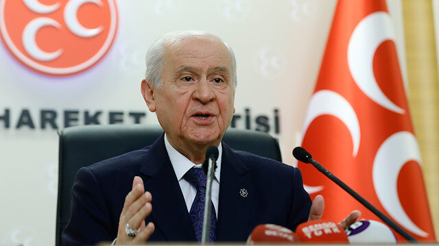 MHP Lideri Devlet Bahçeli.