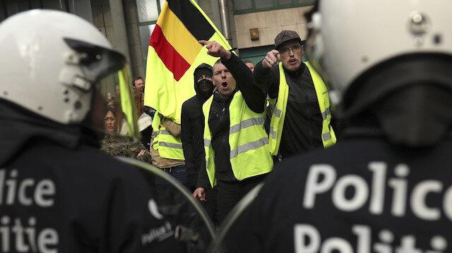 Belçika'da Sarı Yelekliler'den tekrar sokağa çıkma çağrısı