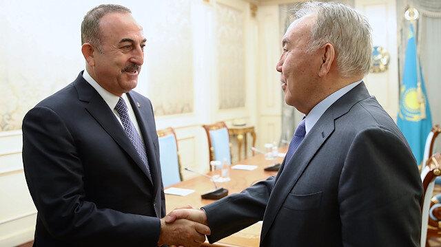 Çavuşoğlu Nazarbayev ile görüştü