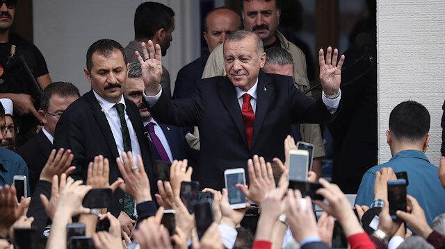 Erdoğan Hacı Osman Torun Camisi'nin açılış törenine katıldı
