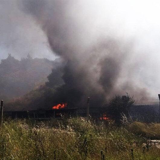 Muğla'da termik santralde çıkan yangın söndürüldü