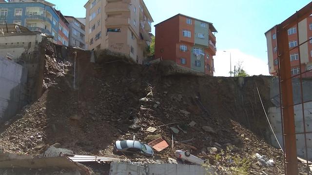 Kağıthane'deki bina çökmüştü.