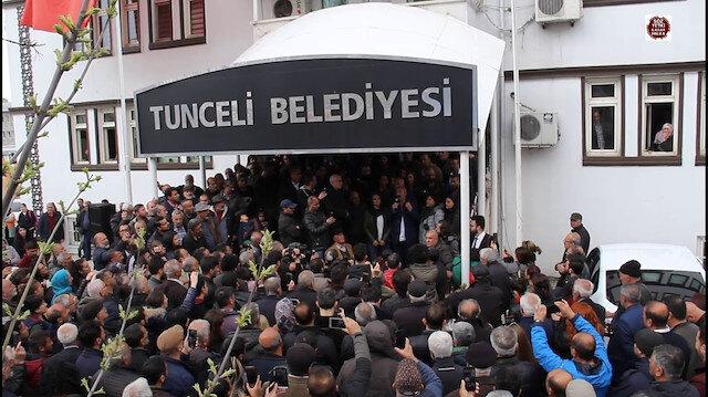Tunceli Belediyesi ana giriş kapısı.