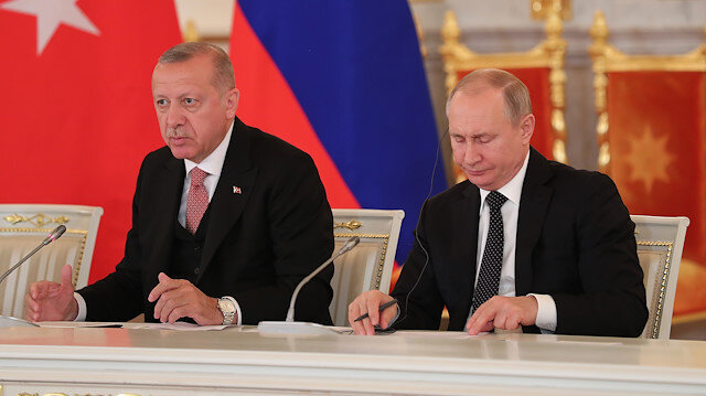 File photo: Erdoğan - Putin press meeting