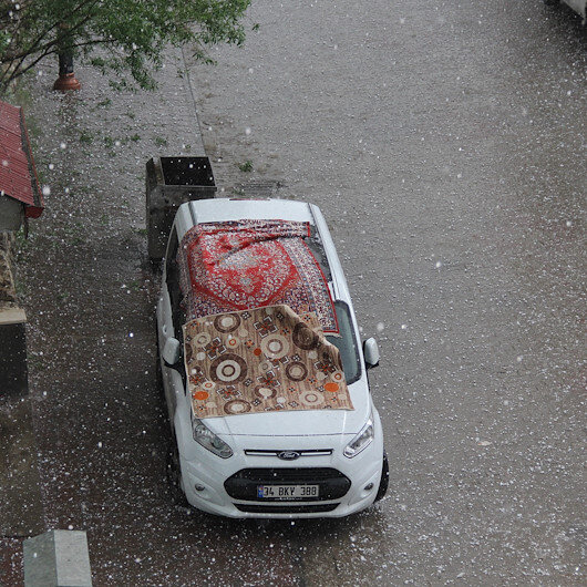 Sivas'ta dolu etkili oldu