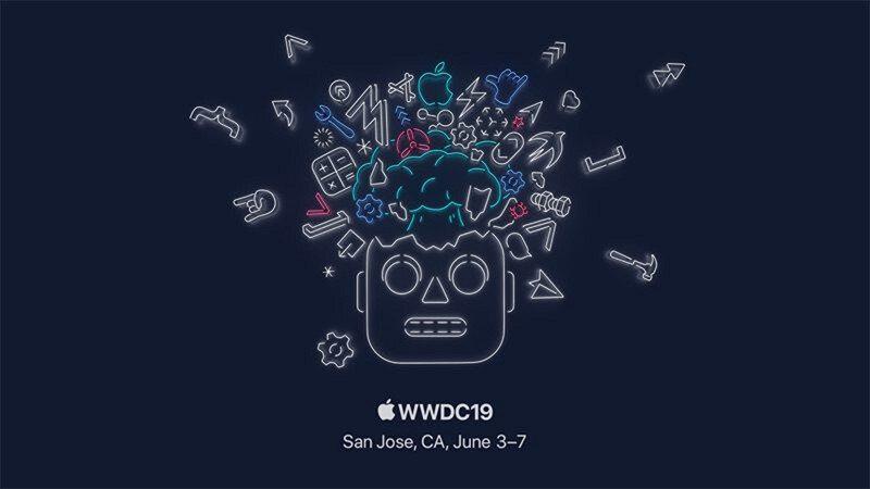 Apple'ın bu yıl için belirlediği simgesel WWDC19 logosu.
