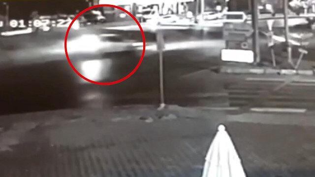 Muğlada 3 kişinin yaralandığı trafik kazası güvenlik kamerasında