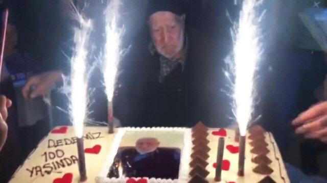 100 yaşında ilk kez doğum gününü kutladı