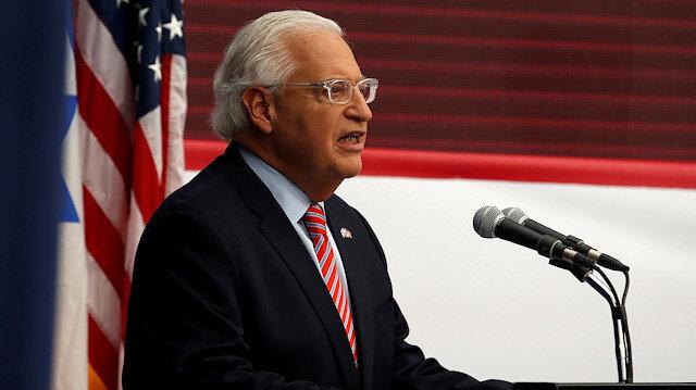 ABD Büyükelçisi'nden İsrail'in Batı Şeria'yı ilhak planına destek